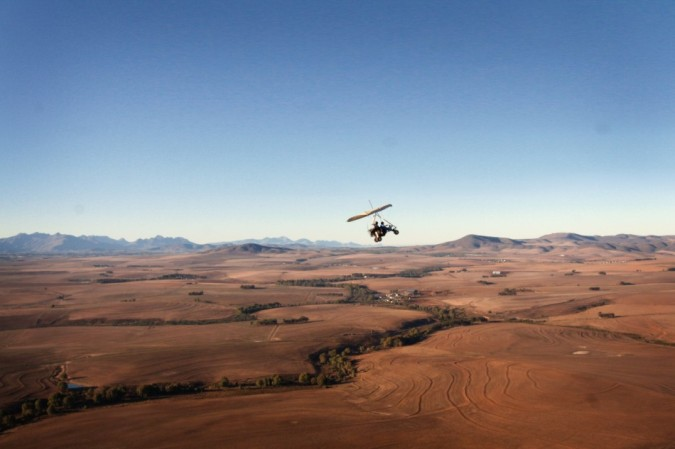 Flying in South Africa